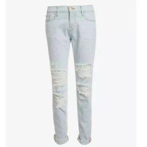 Frame Le Garcon Boyfriend Jeans Distressed